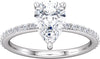 Diamond-Accented (3-prong) Engagement Ring