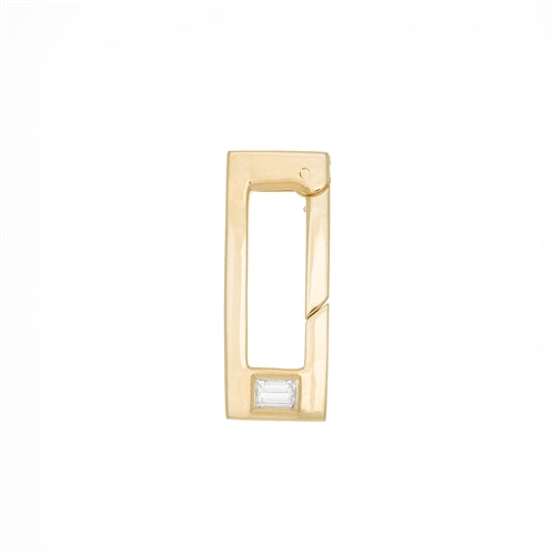 Diamond Rectangle Push Lock - Necklace connector