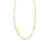 Solid 14K Paperclip Necklace