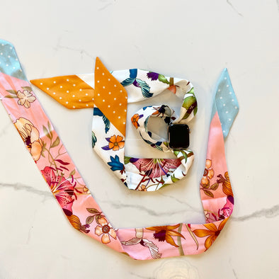 Apple-Watch Scarf Bands - Spring Flowers