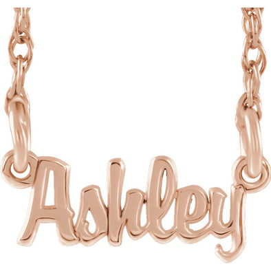 Mini Script Nameplate Necklace