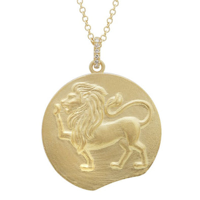 14K Yellow Zodiac Coin Necklace