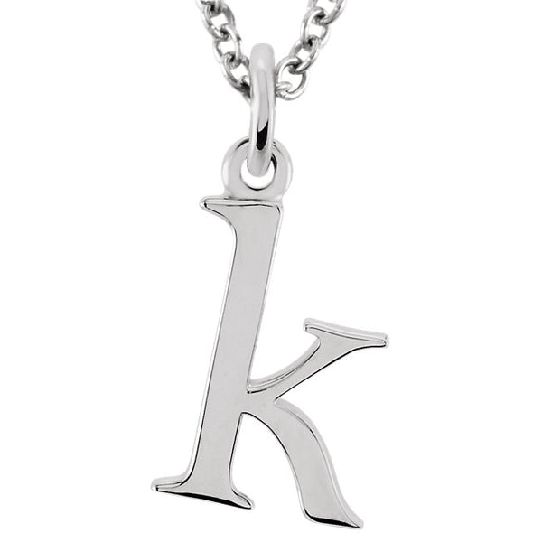 Petite Lowercase Dangle Initial Necklace