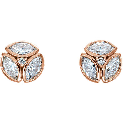 14K 1/2 CTW Diamond Earrings
