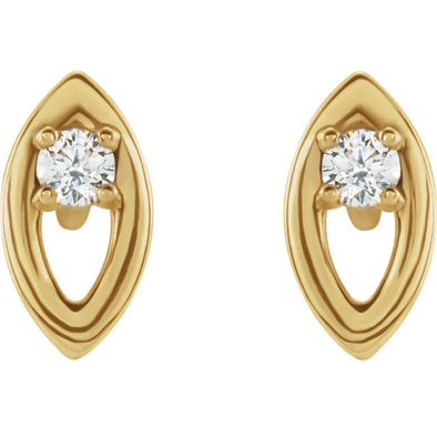 14K .05 CTW Diamond Solitaire Earrings