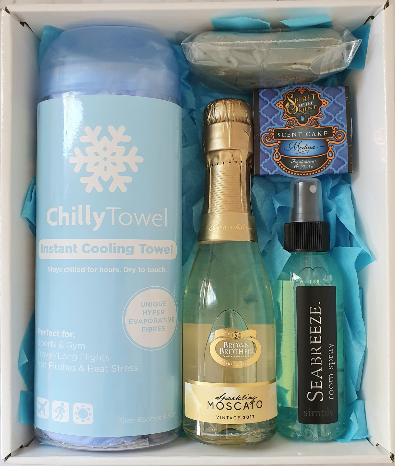 Cool Blue Gift Box