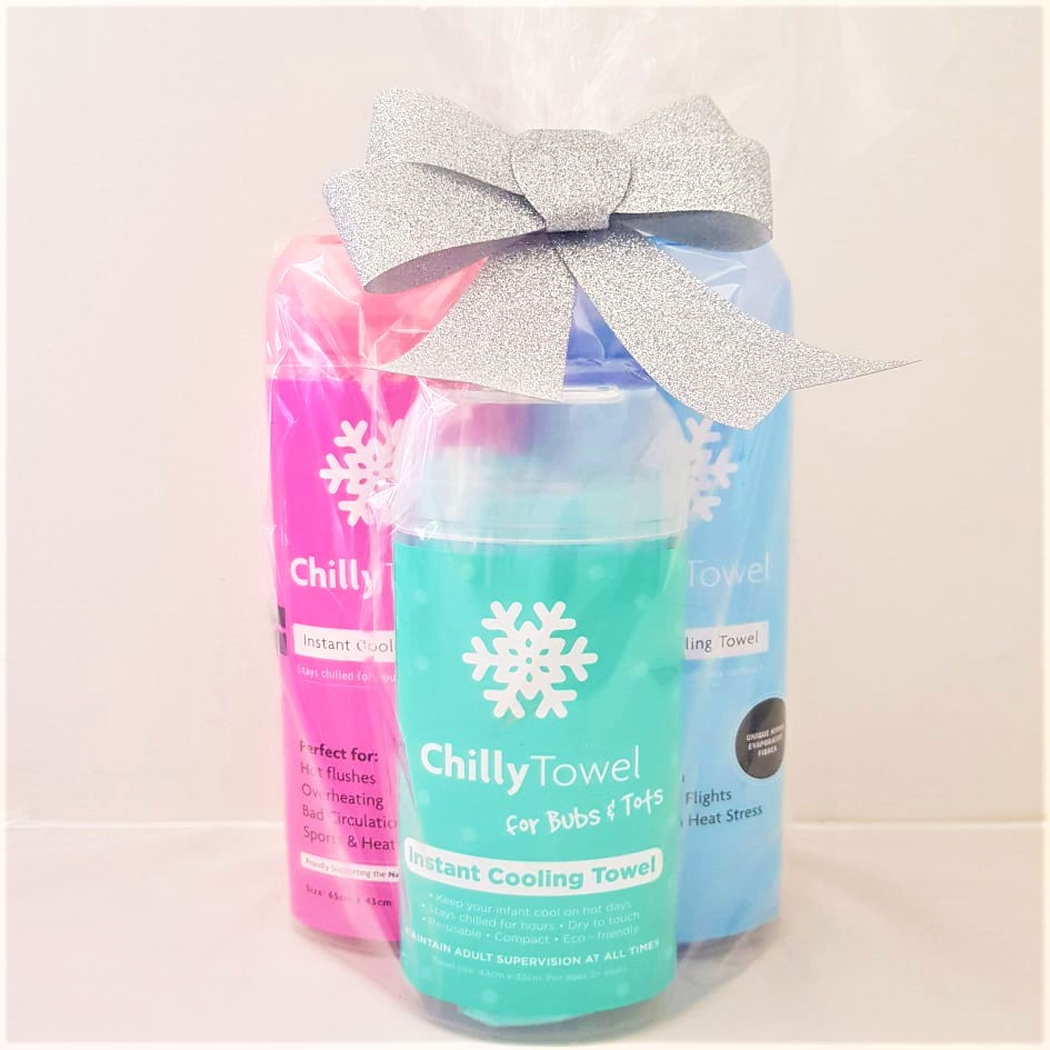 Chilly Towel - Cool Blue, Frosty Pink, Bubs & Tots (Trio Pack)