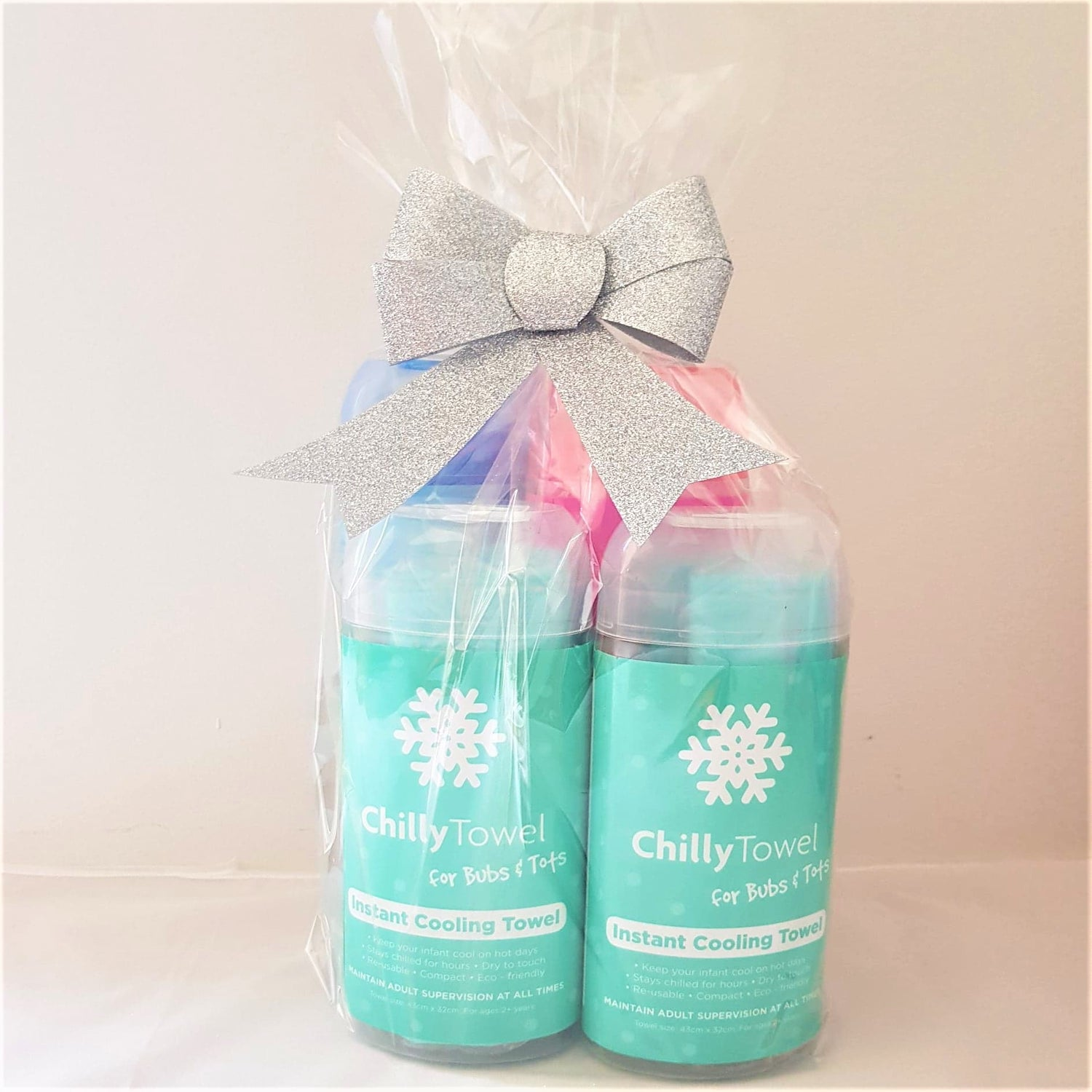 Chilly Towel - Cool Blue, Frosty Pink, Bubs & Tots Duo (Quad Pack)