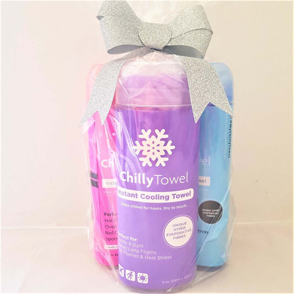 Chilly Towel - Cool Blue, Lavender Purple & Frosty Pink (Trio Pack)