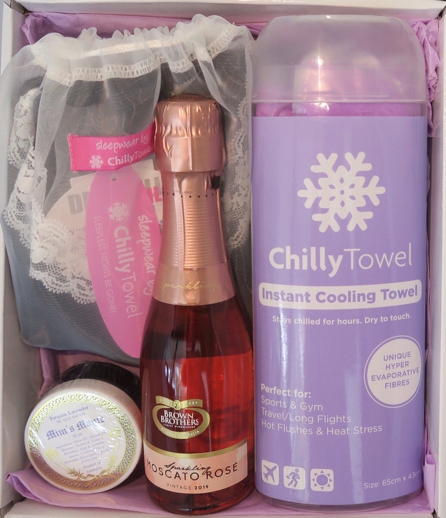 Mother's Day Care Pack, with Dry Chill Singlet & Shorts  set - Lavender Purple Chilly Towel