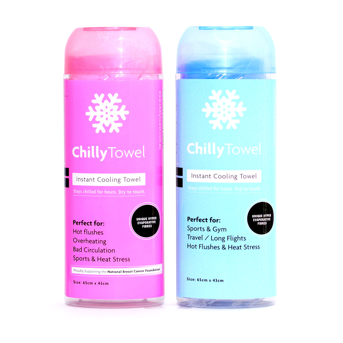 Chilly Towel - Frosty Pink & Cool Blue (Double Pack)