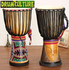 Image of African Djembe Hand Drum 10 Inch (25 cm) Head