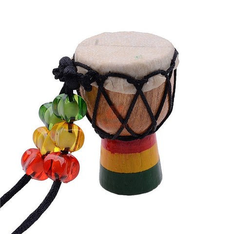 Mini African Djembe Drum Necklace
