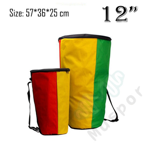 "Djembe Bag Case, 8"" 10"" 12"" Inch, African Drum Bags"