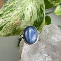Aquamarine Oval Ring Sz8