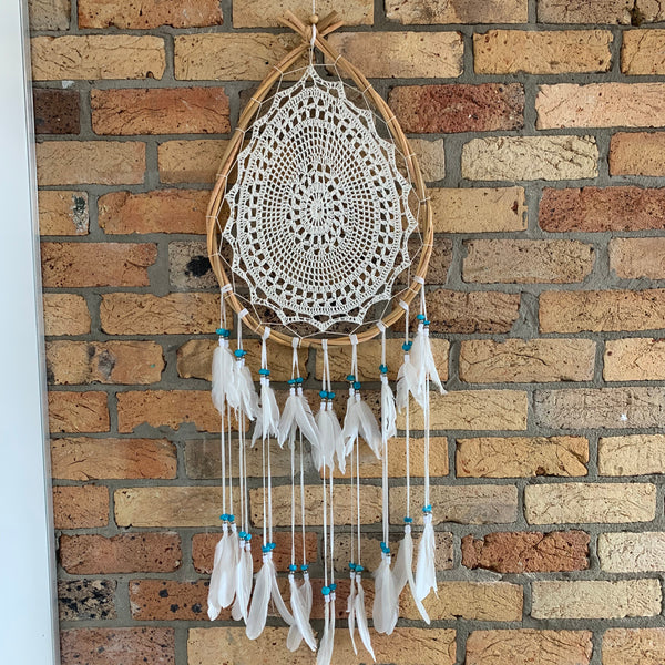DC168d teardrop dreamcatcher
