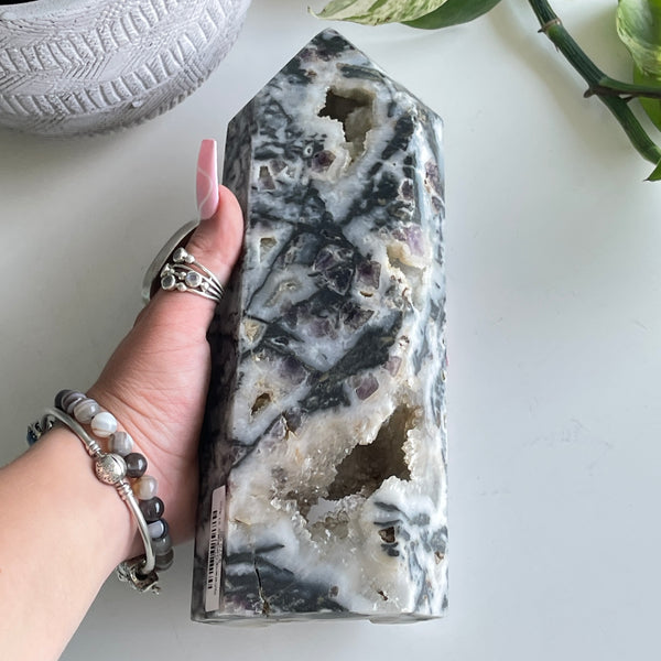 Larimar Detailed Oval Ring Ring 7.5
