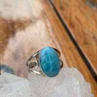 Larimar Oval Ring Sz8.5