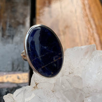 Sodalite Oval Ring Sz7 001