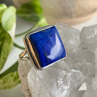 Blue Goldstone Oval Ring