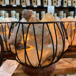 Smoky Quartz Crystal Cage Lamp
