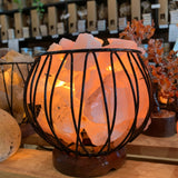 Rose Quartz Crystal Cage Lamp