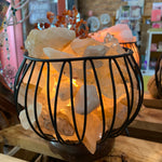 Clear Quartz Crystal Cage Lamp