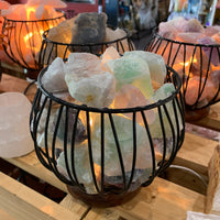 Fluorite Crystal Cage Lamp