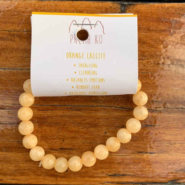 Orange Calcite Med Bracelet