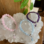 Childs Crystal Bracelet with Angel