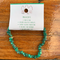 Malachite Chip Bracelet