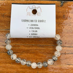 Tourmalinated Quartz Medium Bracelet