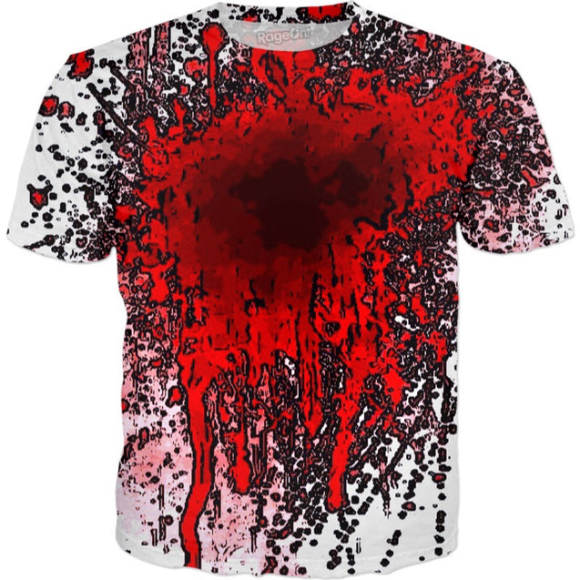 Abstract Blood Spill