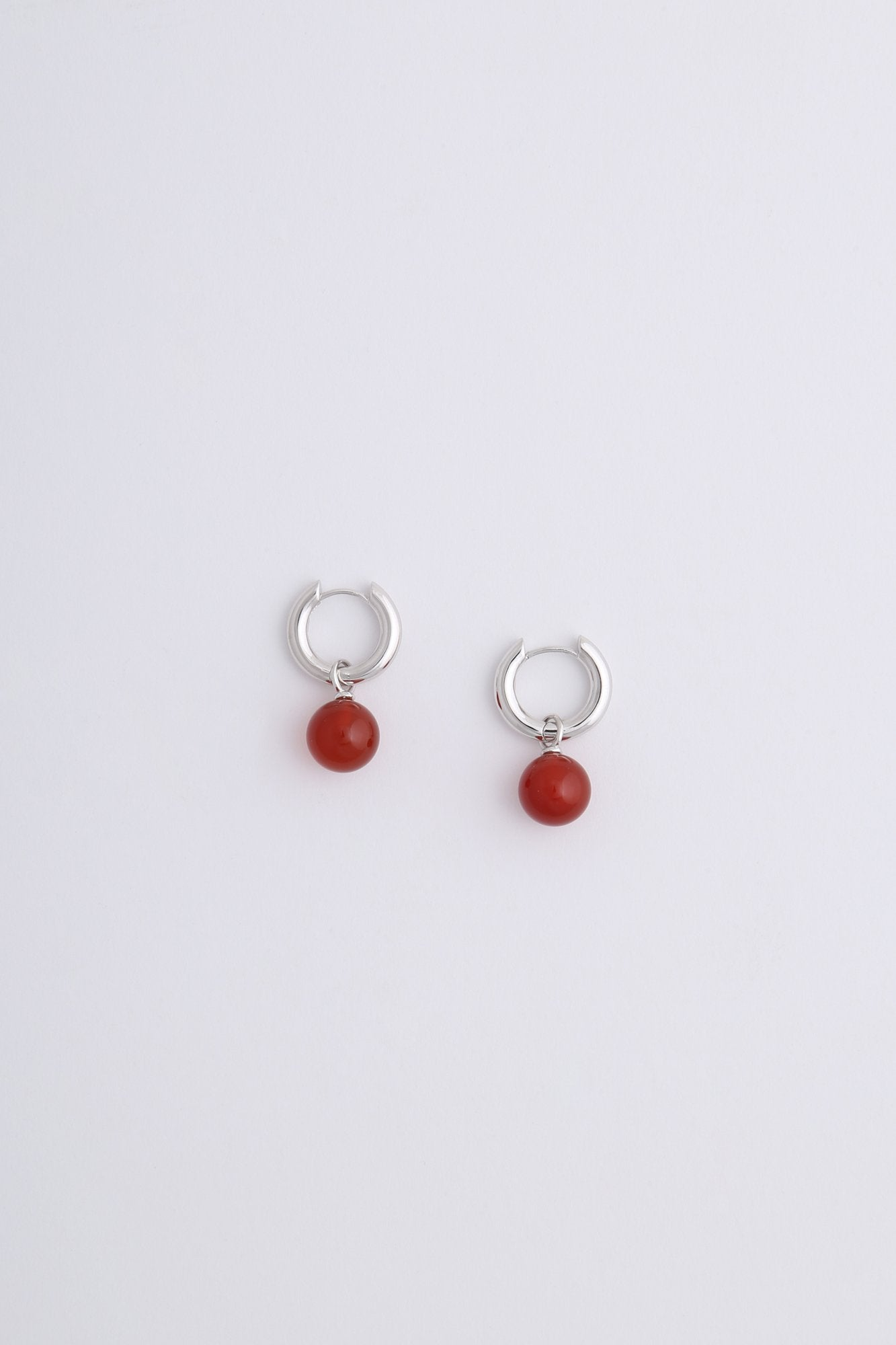 Aura Earrings Silver Orange Onyx