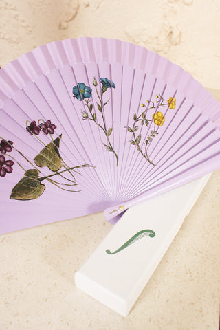 Purple Floral Fan