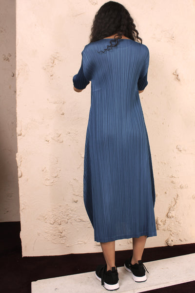 Short Sleeve Dress Blue