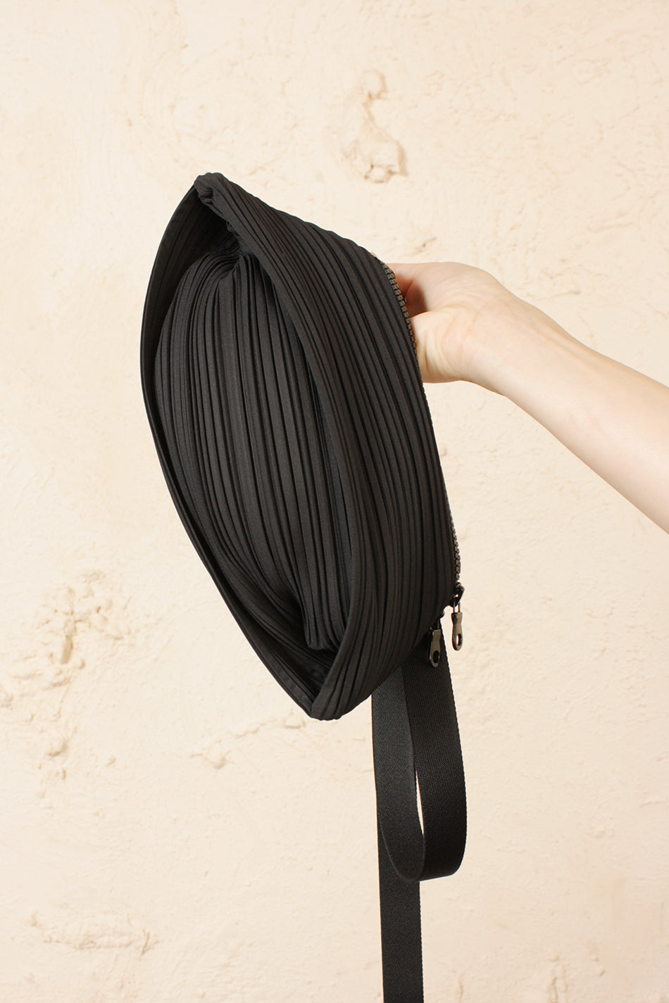 Pleated Waist Belt Bag
