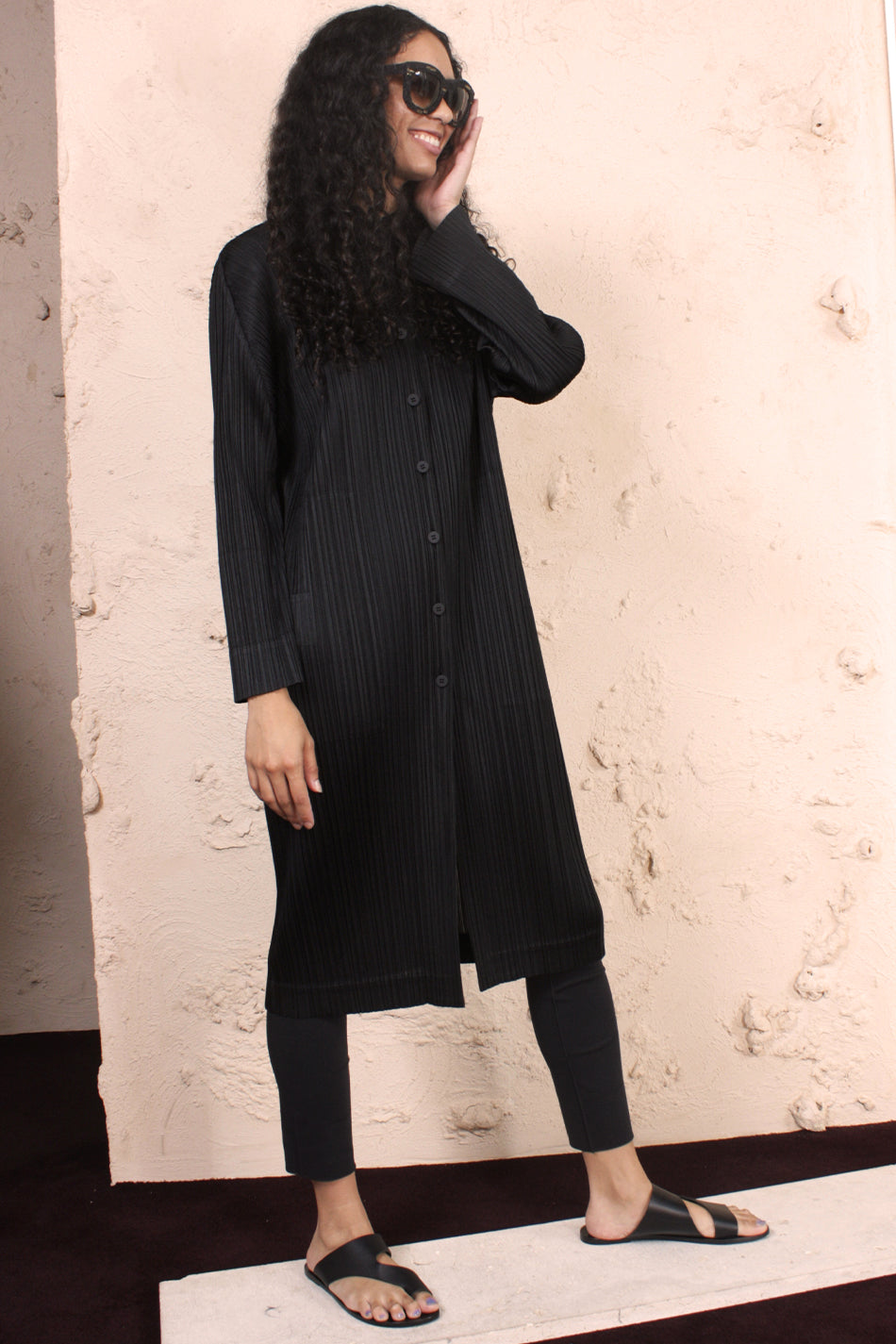 Pleated Shirt Dress