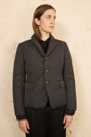 Puffer Jacket with Lapel