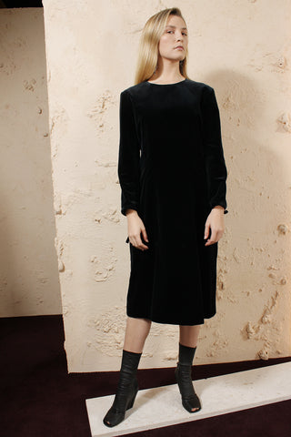 Velvet Long Sleeved Dress