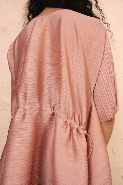Squared Toggle Dress Pink