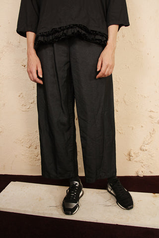 Wide Crinkled Trousers
