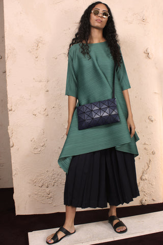 Squared Toggle Dress Green