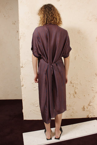 Dipha Striped Shirtdress