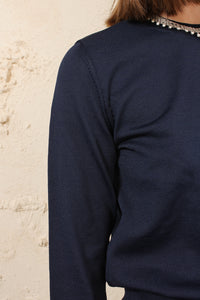 Navy Crew Sweater