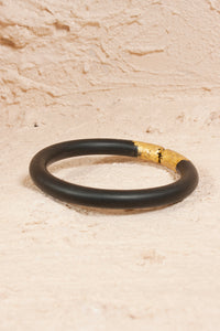 Black Gold Leaf Bangle
