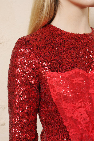 Mae Sequinned Dress