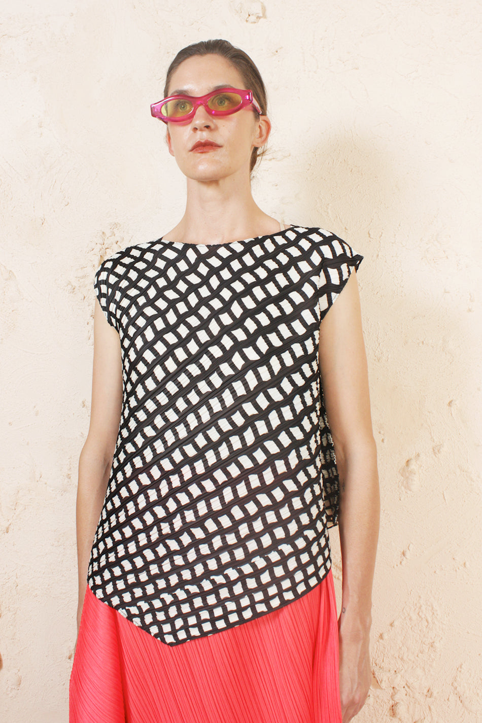 Asymmetrical Pattern Top
