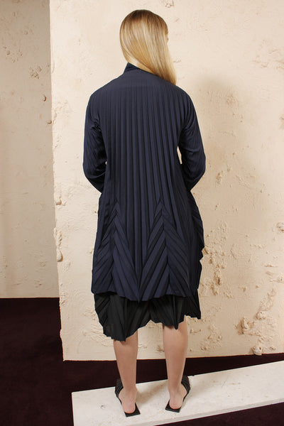Navy Pleated Tunic