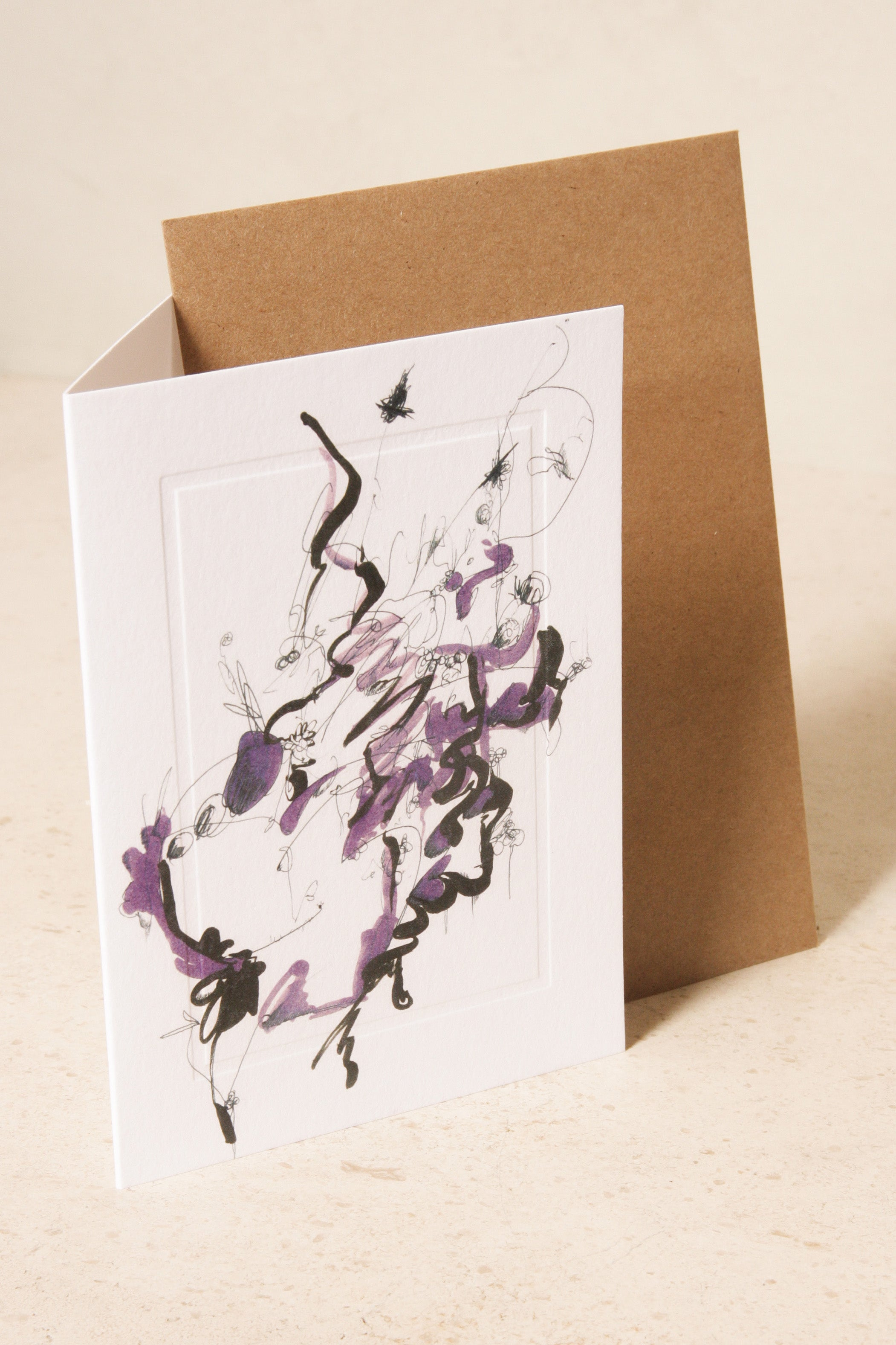 Dilettante x Nick FitzPatrick Greeting Card - Purple